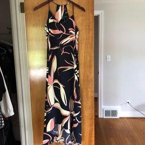 Cynthia Rowley High Low Navy Midi Dress